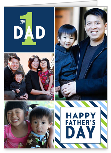 Striped Collage Father's Day Card