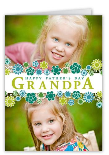 Grandpa's Garden Father's Day Card, Square