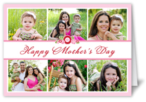 bouquet collage mothers day card