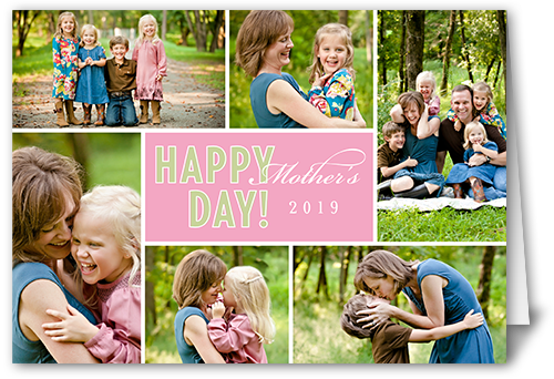 Happy Day Pink Mother's Day Card
