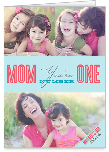 Number One Mom Mother's Day Card
