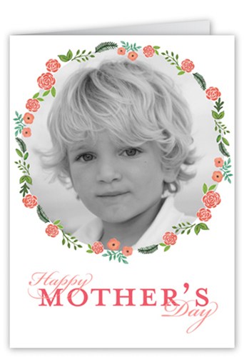 Floral Frame Mother's Day Card, Square Corners