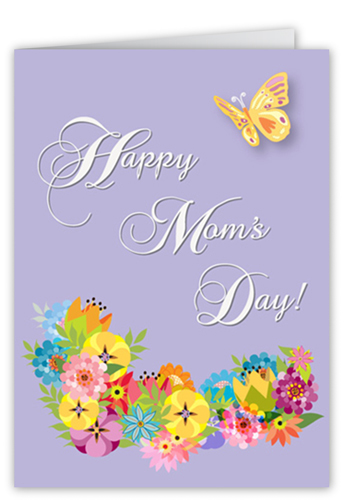 Perfect Pansies Mother's Day Card, Square Corners