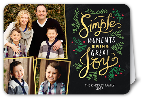 Simple Moments Christmas Card, Rounded Corners