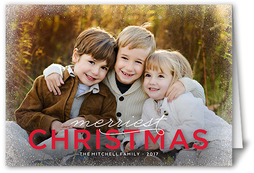 Frosted Corners Christmas Card, Rounded Corners
