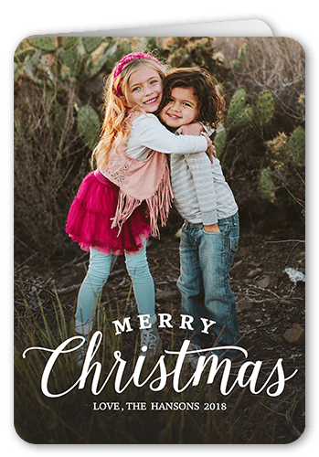 Simple Family Greeting Christmas Card