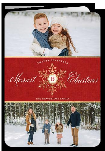 Elegant Season Greetings Christmas Card, Square