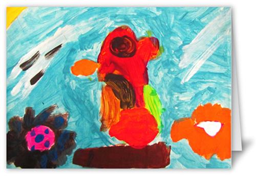 kids artwork 5x7 folded card by shutterfly shutterfly