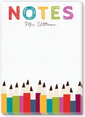 penciled reminder 5x7 notepad