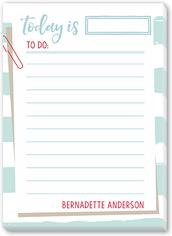 striped list 5x7 notepad