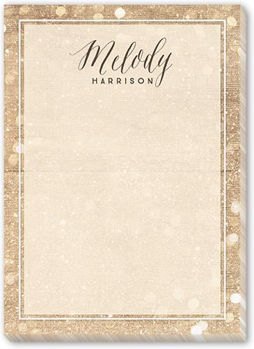 Bokeh Reminders 5x7 Notepad
