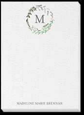 canvas wreath 5x7 notepad
