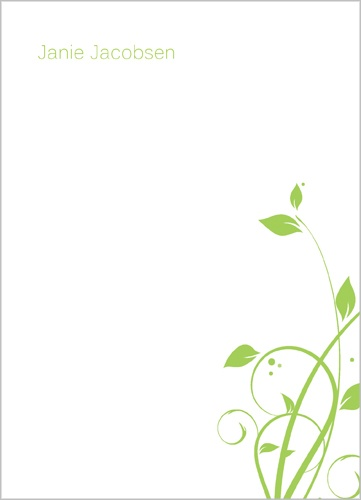 Green Leaves 5x7 Notepad