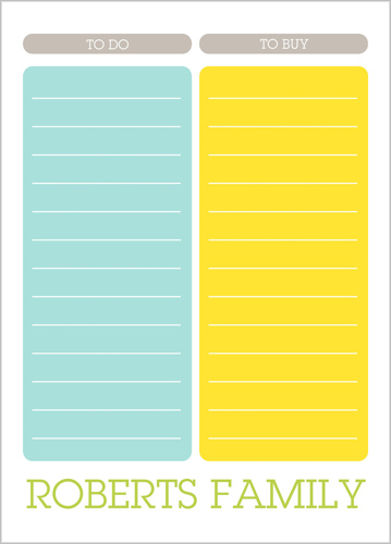 Colorful List 5x7 Notepad