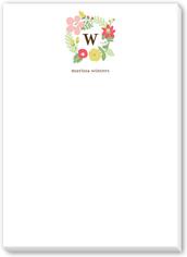 charming wreath 5x7 notepad