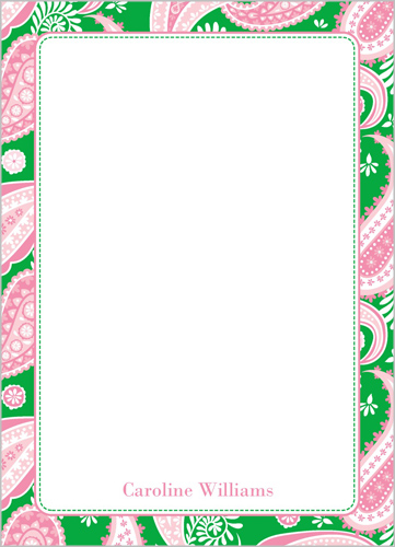 Sweet Paisley Notes 5x7 Notepad