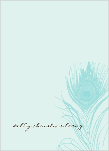 Blue Plume 5x7 Notepad