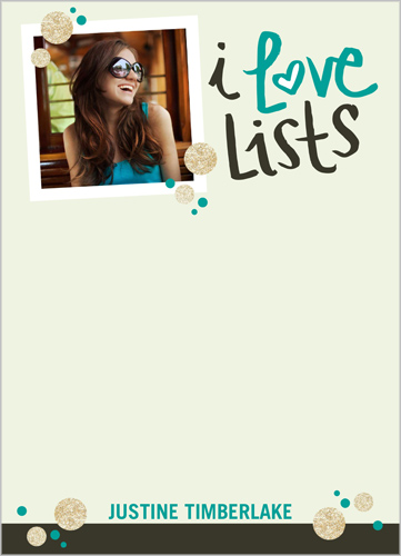 I Love Lists 5x7 Notepad