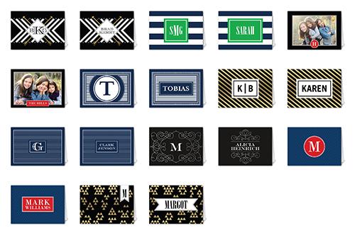 Monogram Style Mix & Match Stationery Set