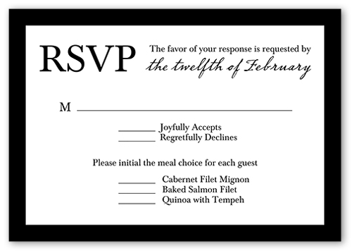Refined Monogram Wedding Response Card
