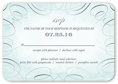 Wedding RSVP Cards Response Cards – Rsvp in Invitation Card Meaning