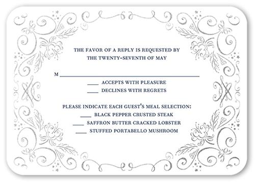 Whimsical Scrolls Wedding Response Card