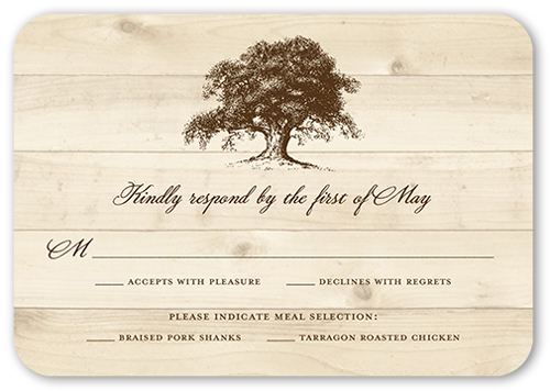 Rustic Statement Wedding Response Card
