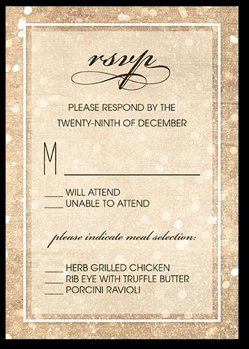 Sparkly Lights Wedding Response Card