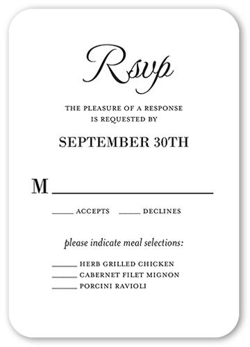 Basic Union Wedding Response Card, Rounded Corners