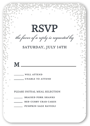 Sparkling Moment Wedding Response Card, Rounded Corners