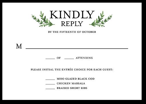 Serene Love Wedding Response Card, Square Corners