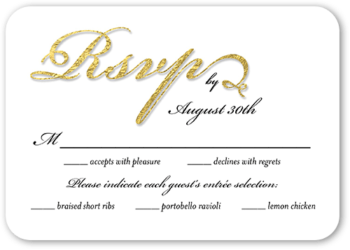 Fanciful Love Wedding Response Card, Rounded Corners