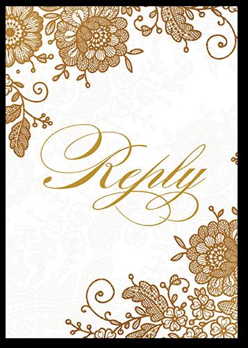 Elegant Beauty Wedding Response Card, Square Corners