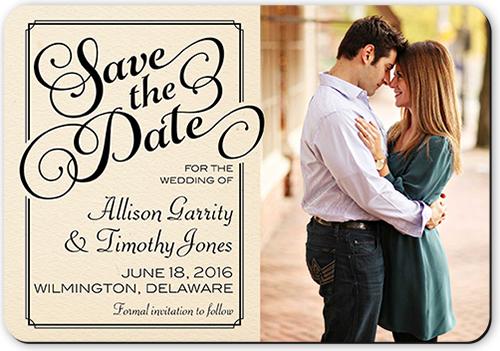 Classy Swirls Save The Date