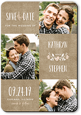 wreathed in love save the date stationerymagnet