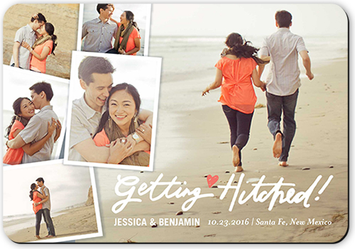 Getting Hitched Collage Save The Date
