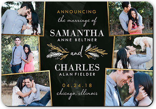 Sweet Snapshots Collage Wedding Announcement