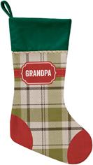 classic badge name christmas stocking