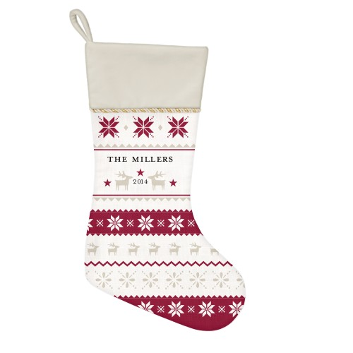 Festive Sweater Christmas Stocking, Natural, Multicolor