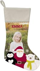 santa and friends christmas stocking