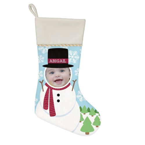 I'm A Snowman Christmas Stocking, Natural, Multicolor