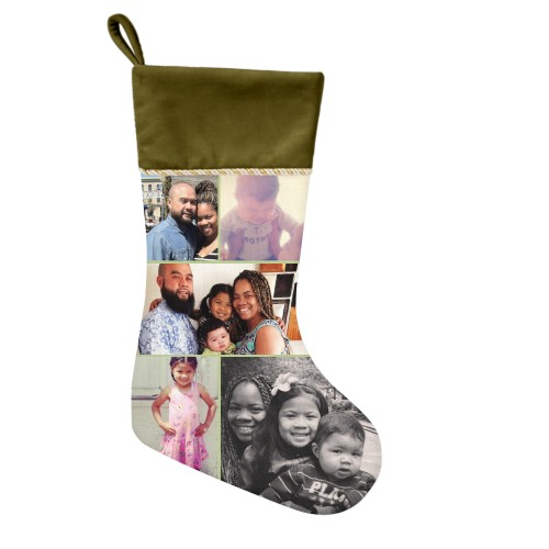 Gallery of Five Christmas Stocking, Moss Green, Green