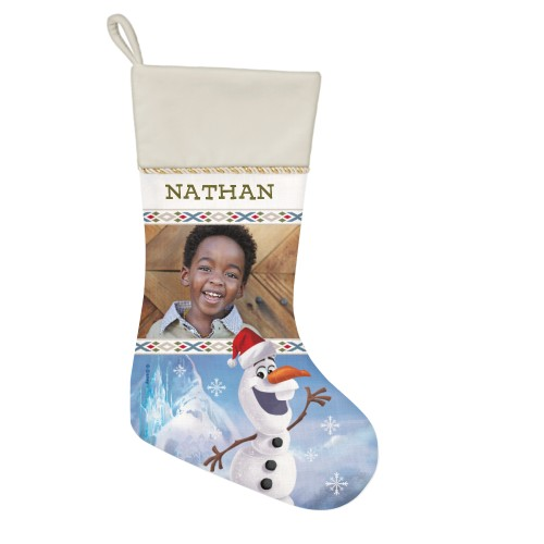 Disney Frozen Olaf Christmas Stocking, Natural, Blue