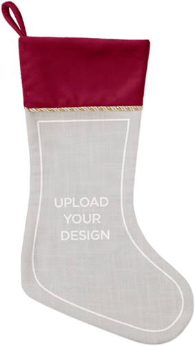 Upload Your Own Design Christmas Stocking, Cranberry, Multicolor