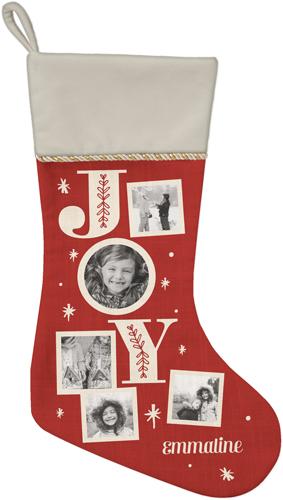 Joy Christmas Stocking, Natural, DynamicColor