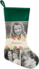 floral frame christmas stocking