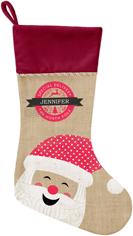 merry santa christmas stocking