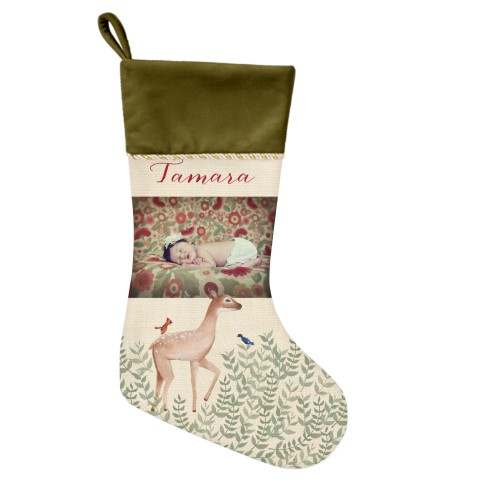 whimsy deer picture christmas stocking