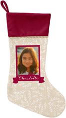 foliage banner christmas stocking