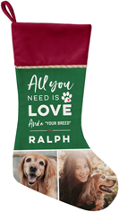 all you need is love christmas stocking